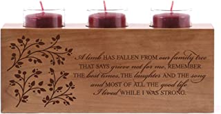 LifeSong Milestones Memorial Candle Holder Those Who We Love Don't Go Away Engraved Cherry Wood Keepsake Ideas for Loved One 10