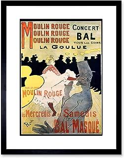 Wee Blue Coo AD Vintage Lautrec Moulin Rouge LA GOULUE MASK Ball Framed Art Print F97X10214