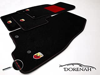 Octagon negro Fiat 500 x 5trg Áspero alfombrillas de goma a partir de 2//15