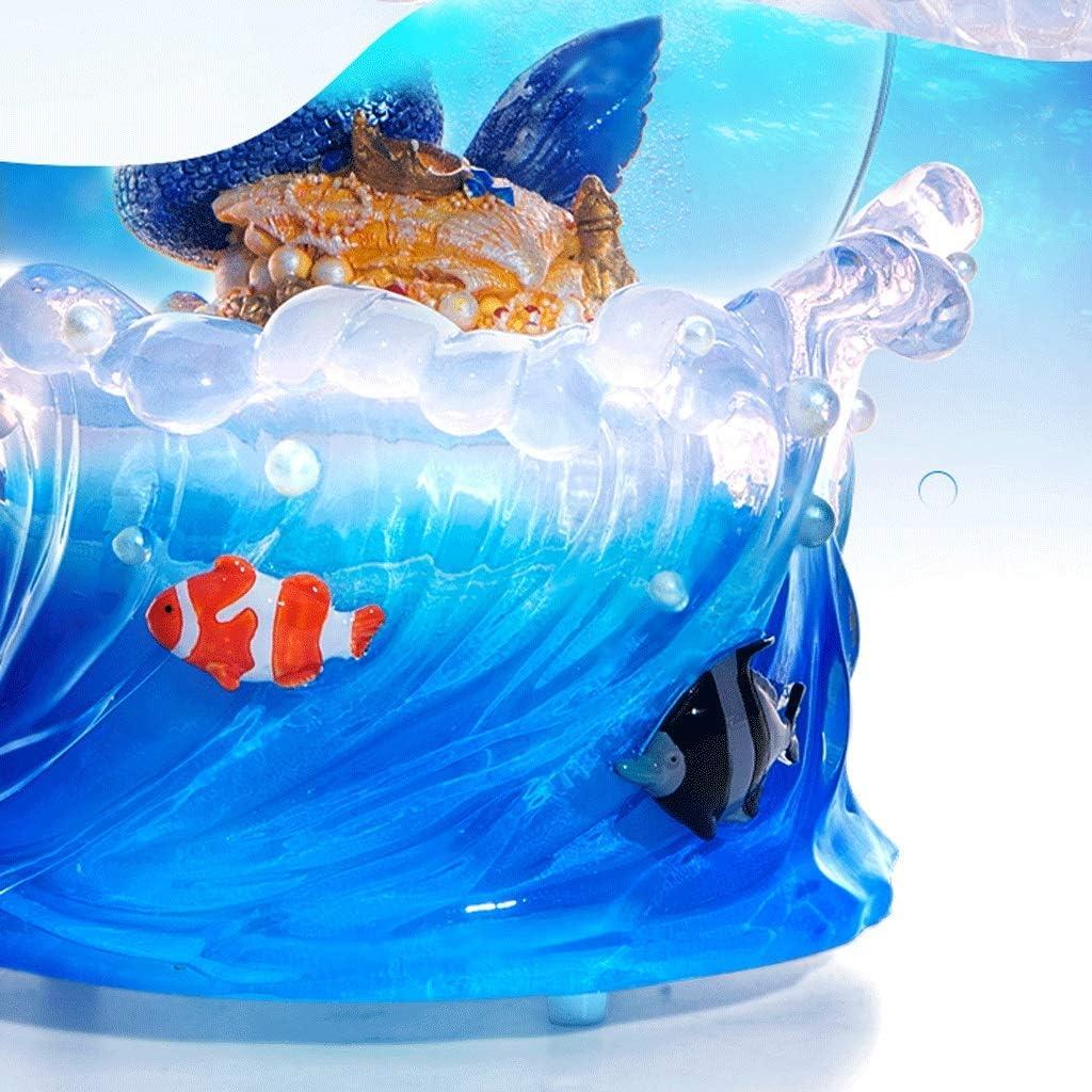 Caja de m/úsica Juguetes M/úsica bola de cristal de la sirena Caja de caja de m/úsica creativa del regalo de cumplea/ños del copo de nieve con la caja de m/úsica Caja de m/úsica Manualidades De Decoraci/ón