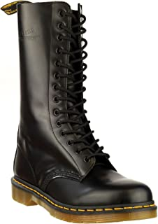 Dr Martens 1914 Mens Boots Lace Up Leather Pull On Tab Casual Male Footwear New Black 6