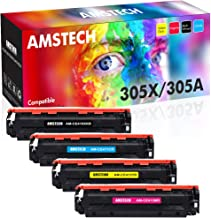 Amstech Compatible Toner Cartridge Replacement for HP 305A 305X CE410X CE411A CE412A CE413A for Laserjet Pro 400 Color MFP M451dn M451nw M475dn M475dw M451dw M375nw (Black, Cyan,Magenta,Yellow,4-Pack)