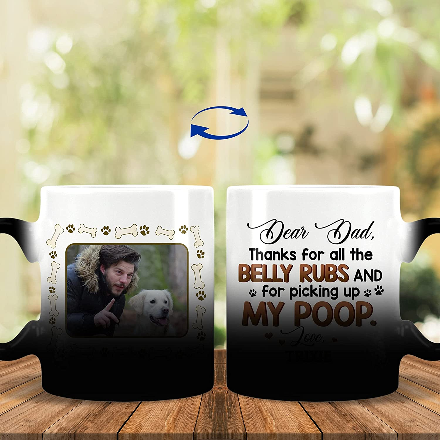 Personalized Dear Dad Thanks for All Super intense SALE Rubs and The Belly Pick Max 85% OFF