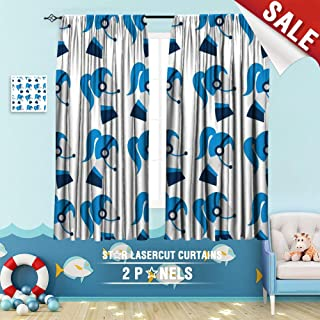 Big datastore home Drapes for Kids, Assistant Business Businesswoman Call Center Communication Consultant Contact Customer Female Girl 108 x 72 inch Room Darkening Blackout Drapes