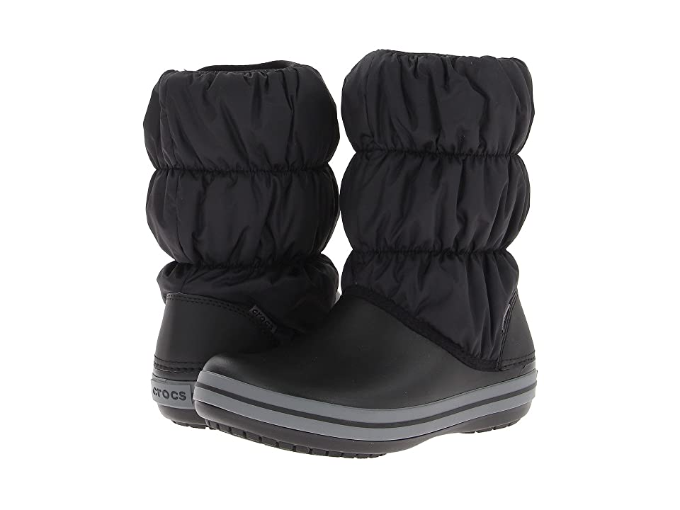 Crocs Winter Puff Boot (Black/Charcoal) Women