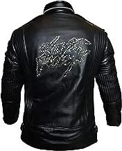CHICAGO-FASHIONS Mens Daft Punk Electroma Black Synthetic Biker Leather Jacket
