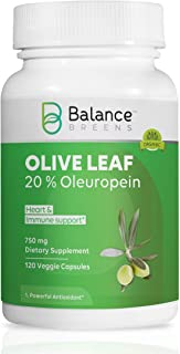 Sponsored Ad - Balance Breens - High Strength Olive Leaf Extract 750mg - 20% Oleuropein - Supports Healthy Balance Lifesty...