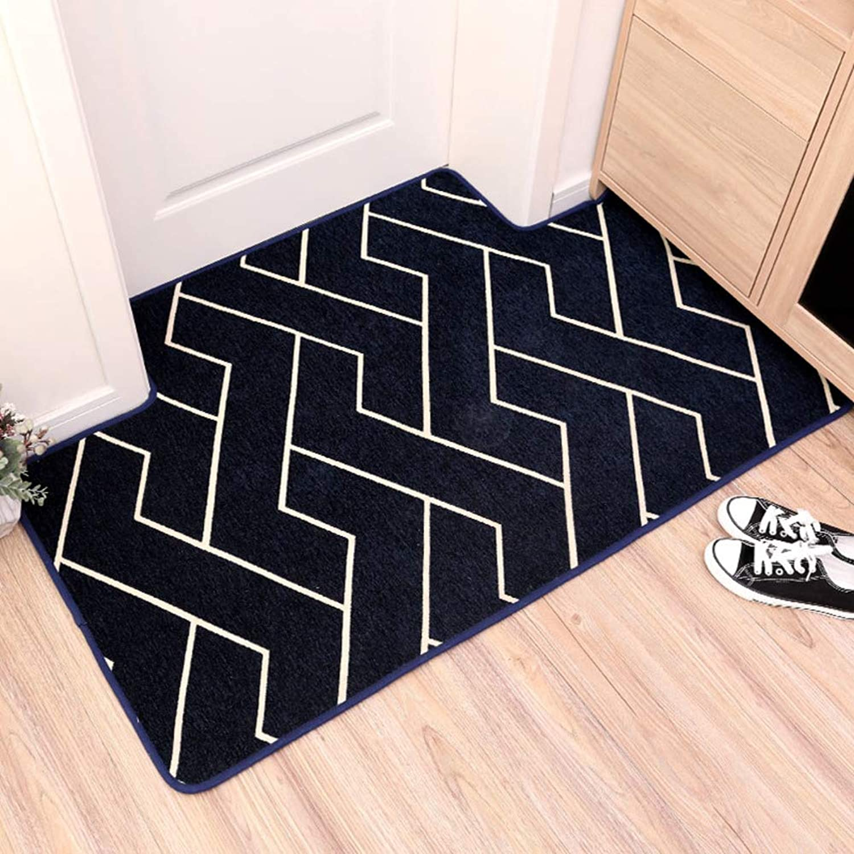 Door mat,Front Entrance Door mat Rectangle Rug Floor mat Non-Slip Mat Geometric Pattern Carpet Decoration-Navya 80X120cm(31x47inch)