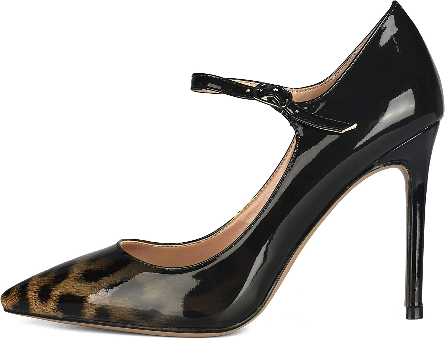 Long-awaited SOPHITINA Women's Pointy Toe Patent Green Leopard Pumps Max 40% OFF Leather