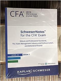 2019 CFA Level 3 Kaplan Schweser Notes: Books 1-5, Practice Exam Vol 1, QuickSheet, Weekly Class Workbooks Vol 1-2