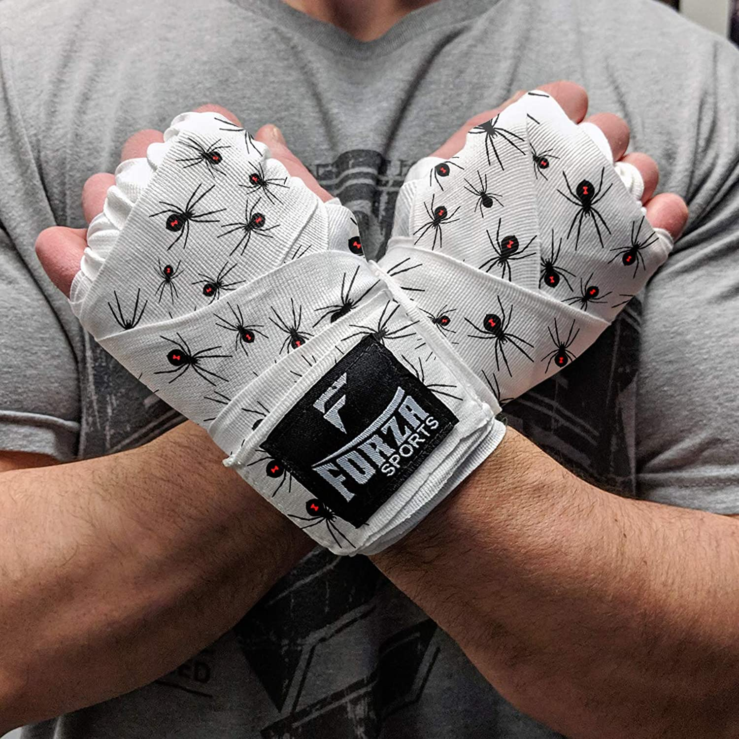 Forza Sports 180  Mexican Style Boxing MMA Handwraps  Spider White