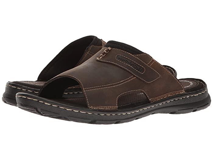 Rockport  Darwyn Slide 2 (Brown II Leather) Mens Slide Shoes