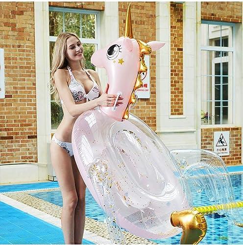 HGHFH Rangée Flottante Flotteur Géant De Paillettes De Piscine Pegasus en Cristal Gonflable Rose De Piscine Gonflable à L'Intérieur du Radeau De La Piscine,
