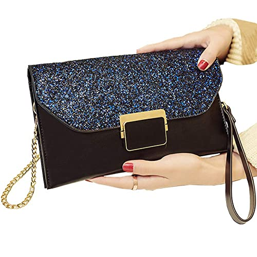 ALAIX Womens Formal Clutch Evening Purse Envelope Rhinestone Handbag with  Wristlet Shoulder Chain 85bc78a424
