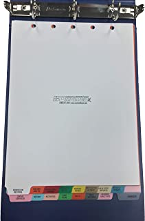 Omnimed 220910 16 Tab Preprinted Poly Chart Dividers with Top Open