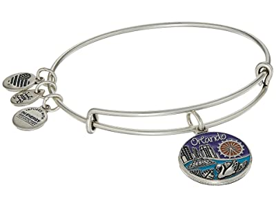 Alex and Ani Places We Love Orlando Bangle (Rafaelian Silver) Bracelet
