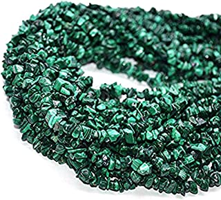 malachite chip beads