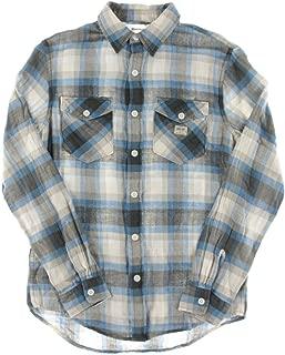 Mens Casey Vintage Plaid Button Up Shirt