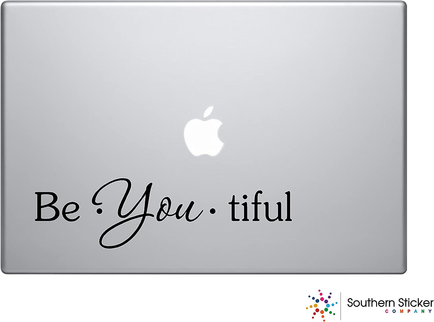 Be You Tiful discount Branded goods Text Black Iphon Macbook Silhouette Bathroom Symbol