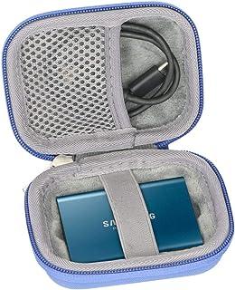 ハード旅行ケースのSamsung t3t5ポータブル250GB 500GB 1tb 2tb SSD USB 3.0外付けソリッドステートドライブby co2crea、ブルー
