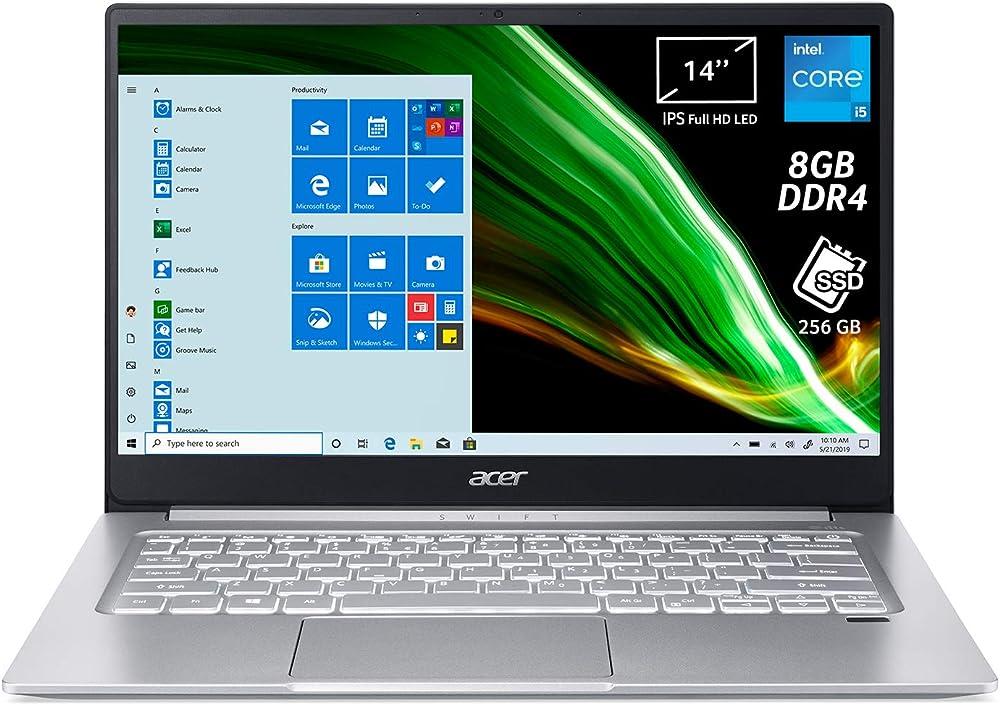 Acer, pc portatile, notebook con processore intel core i5-1135g7, ram 8 gb ddr4, 256 gb, ssd ?SF314-59-57B2
