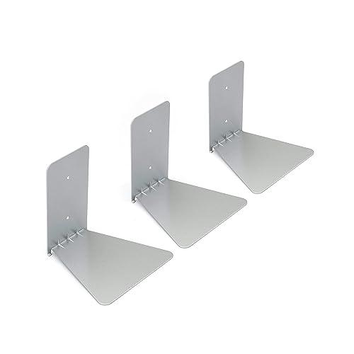 Umbra 330639-560 Conceal Floating Bookshelf, Set of 3, Small, Silver
