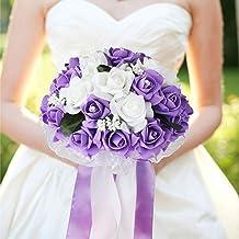 Keepsake Bouquet Vintage Bouquet. Purple Pantone Bridesmaids Bouquet Sola Flower Bouquet
