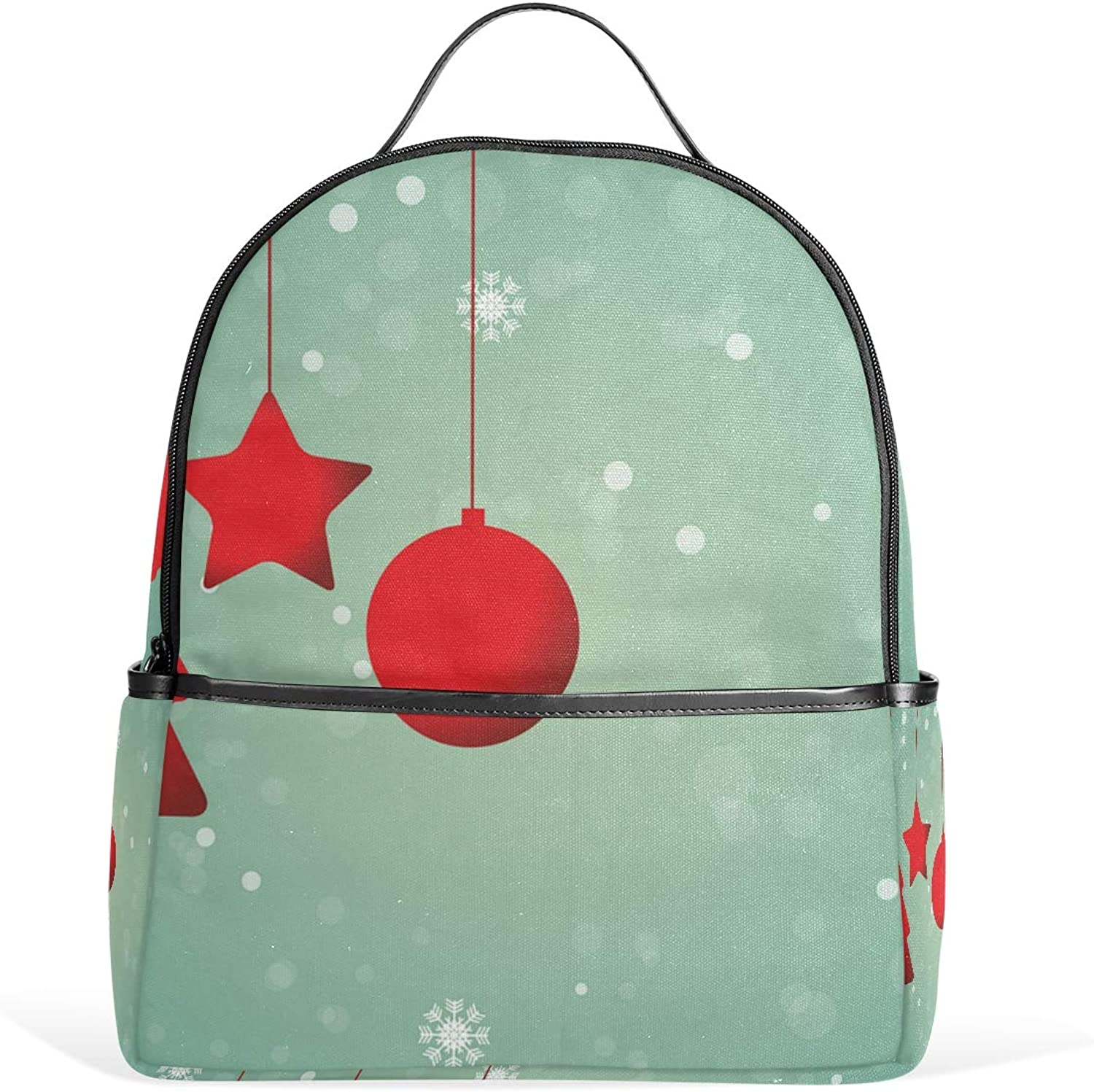 Christmas Ornament Backpack for Men Women Back Pack Bag College Daypacks Teenagers's Travel bagpacks Casual Daypack for Travel