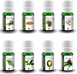 Aroma2Go 100% Pure Plant Based Essential Oil Gift Set of 8 Aromatherapy Bottles we Call The Tree Hugger Set. Includes 8 x ...