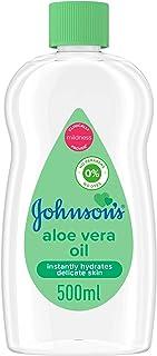 JOHNSON'S Baby Moisturising Oil, Aloe Vera, 500ml