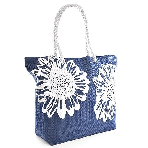 422010183c Beach Bag Tote Bags for Women Ladies Large Summer Shoulder Bag With Pocket  Carrier Bag Flower