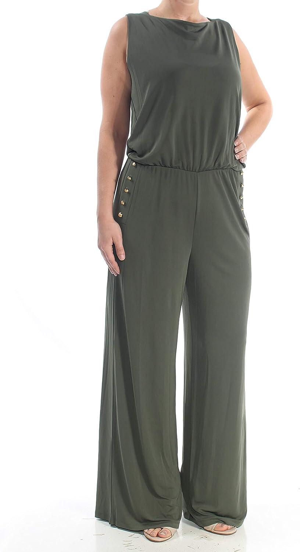 LAUREN RALPH Womens outlet Green Sleeveless Ne Topics on TV Embellished Scoop