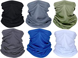 Summer Face Cover UV Protection Neck Gaiter Scarf Sunscreen Breathable Bandana (Multi Color)