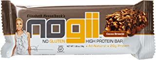 NoGii High Protein Nutritional Bar, Cocoa Brownie, 12 Count