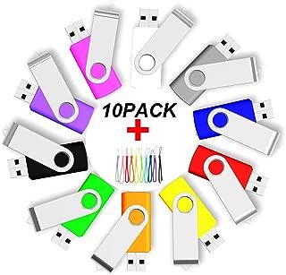 10PCS 2.0/3.0 USB Flash Drive Pen Drive Memory Stick Thumb Stick Pen Black (2.0/8GB, Mix)