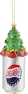 Northlight Pepsi Bottle Cap Can with Christmas Tree Topper Decorative Glass Ornament, 4.75