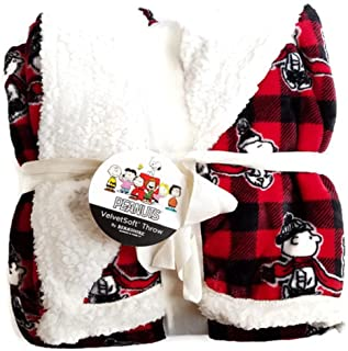 Peanuts Gang Christmas Holiday Throw Blanket by Berkshire Home 50W x 60L