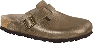 Women's Boston Washed Gold Leather Clogs 36 N (US Women's 5-5.5)