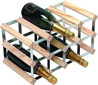 RTA 12 fles traditionele wijnrek-volledig geassembleerde natuurlijke grenen (FSC)