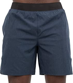 Skora Men's Two in One and Unlined Athletic Running Shorts with Pockets and Zip Back Pocket