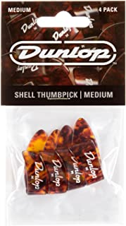 Dunlop 9022P Shell Plastic Thumbpicks, Medium, 4/Player's Pack