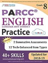 PARCC Test Prep: Grade 8 English Language Arts Literacy (ELA) Practice Workbook and Full-length Online Assessments: PARCC Study Guide