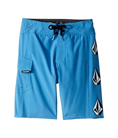 Volcom Kids Deadly Stone Mod Boardshorts (Big Kids) (Free Blue) Boy