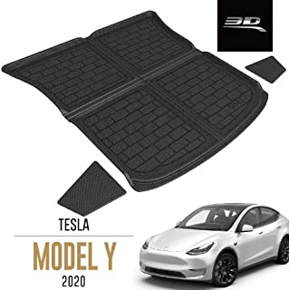 3D MAXpider Custom Fit All-Weather Rear Top Cargo Liner for Select Tesla Model Y Models - Kagu Rubber (Black)