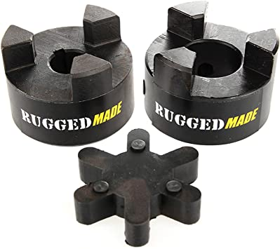 5//8 to 3//4 L075 Flexible 3-Piece L-Jaw Coupling Set /& Buna-N NBR Rubber Spider