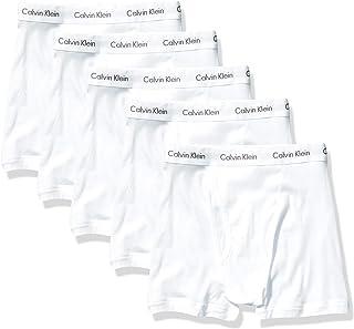 Calvin Klein Men's Cotton Classics Multipack Boxer Briefs, White (5 Pack), M