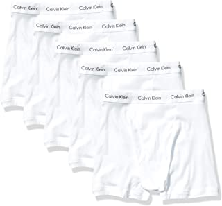 Calvin Klein Men's Cotton Classics Multipack Boxer Briefs, White (5 Pack), S