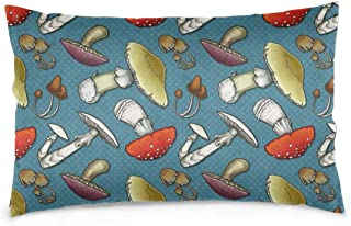 Private Bath Customiz Mushroom Mayhem Throw Pillow Case Pillow Cover Pillowcases Cushion Cover Decorative 20 x 30 inch