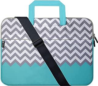 Laptop Case 17.3 inch, HESTECH Laptop Shoulder Bag for Women 17 inch, Computer Cases Compatible for Laptop 16-17.3 HP Lenovo Dell ASUS (Chevron)