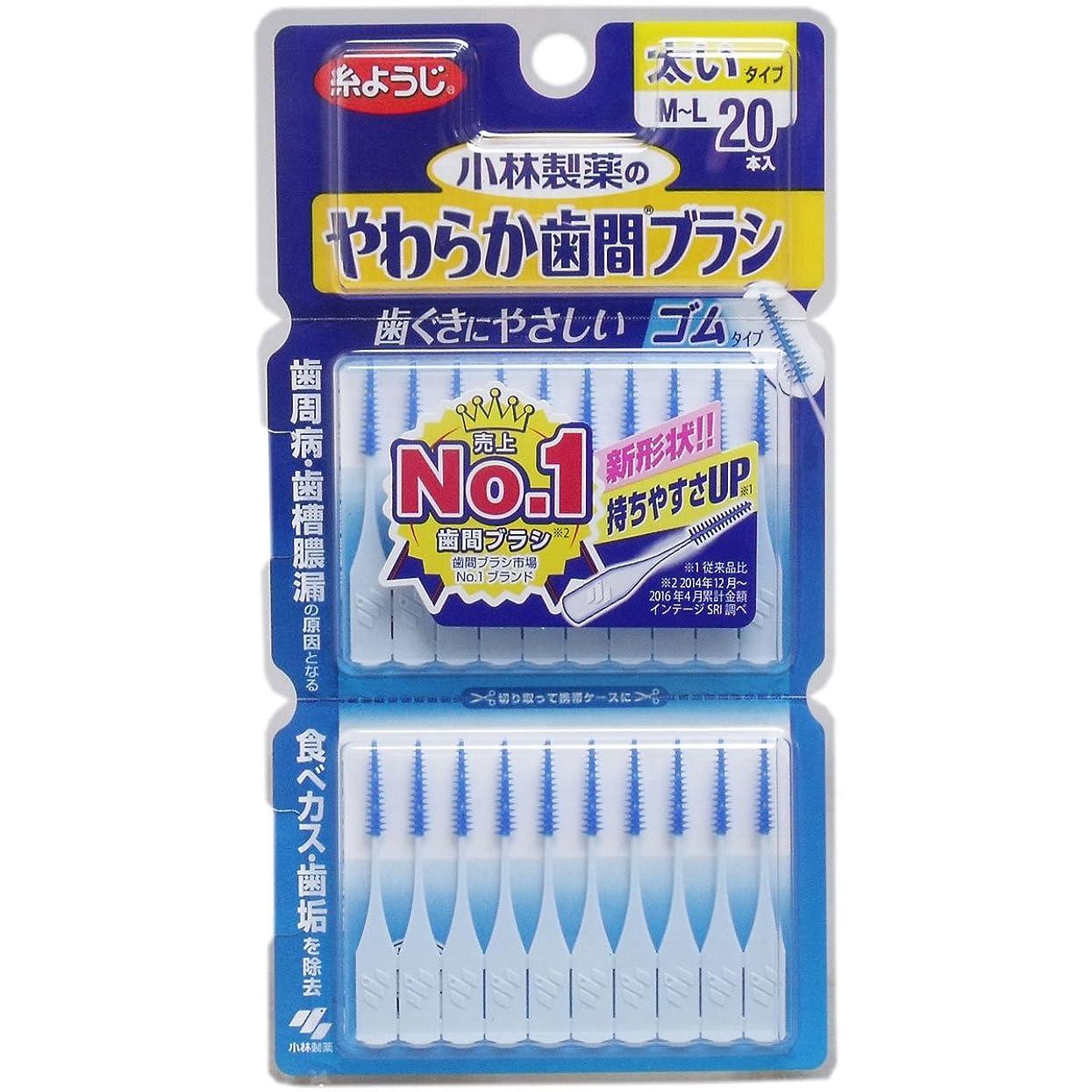 報復どんよりした静脈やわらか歯間ブラシ 太いタイプ M-Lサイズ 20本 ×2セット